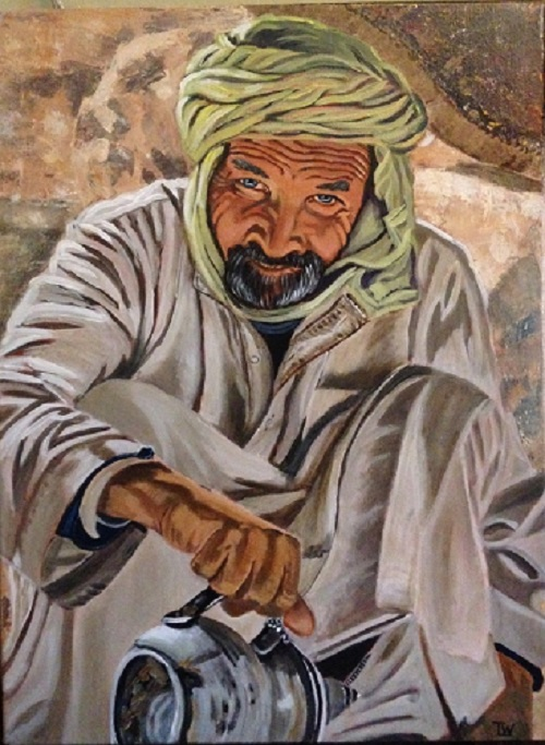 Art Bank - Tea in Morocco - Acrylic on Canvas
