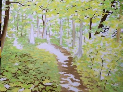 BILLYK 1. Path through the woods acrylic 24x 30