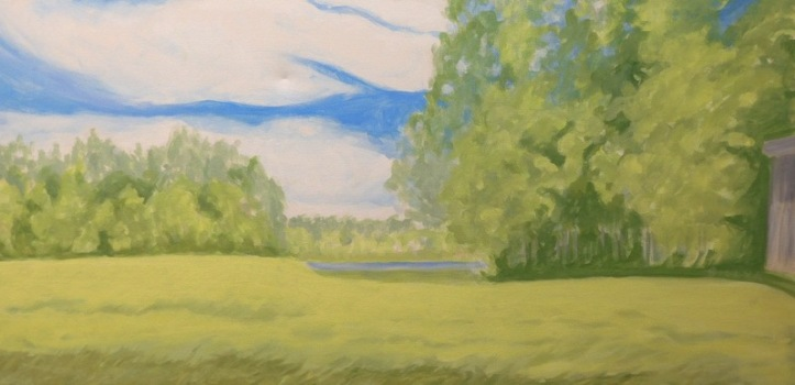 BILLYK 2. Down by the lake acrylic 15x30