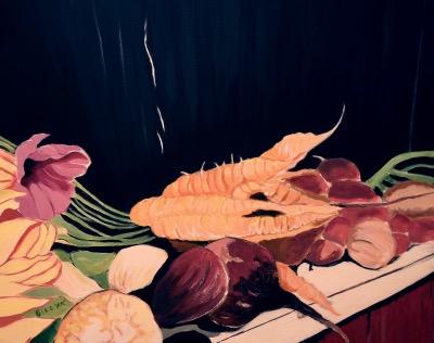 BILLYK 5. Harvest table acrylic 16 x 20