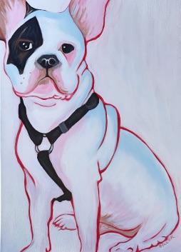 BILLYK 6 French Bulldog 24x36acrylic